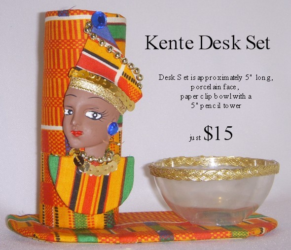 Kente Desk Set